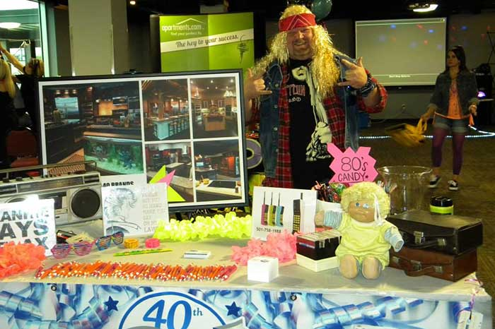 1980s Booth at AAA Trade Show